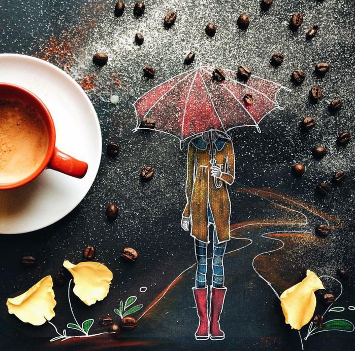 кофейные картинки Cinzia Bolognesi 12 (700x693, 988Kb)
