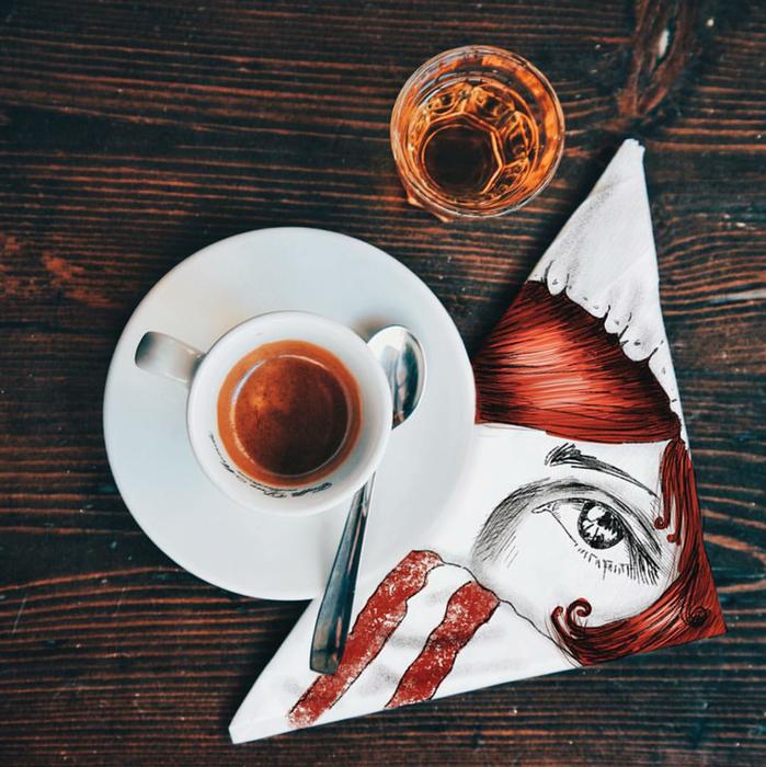 кофейные картинки Cinzia Bolognesi 15 (699x700, 725Kb)