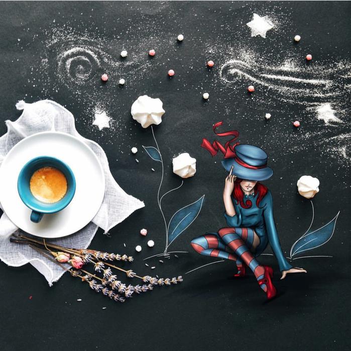 кофейные картинки Cinzia Bolognesi 20 (699x700, 721Kb)