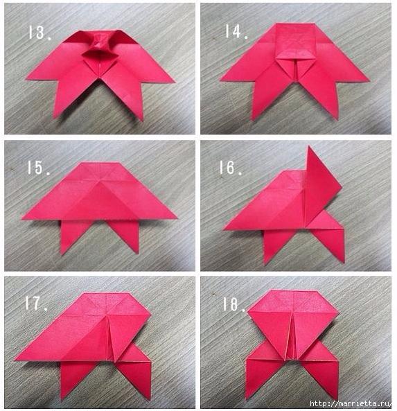 Бабочки из бумаги в технике оригами. 4 способа (5) (573x593, 253Kb)
