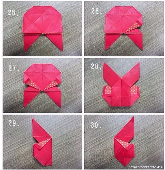 Бабочки из бумаги в технике оригами. 4 способа (7) (572x591, 295Kb)