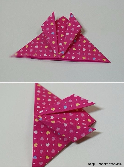 Бабочки из бумаги в технике оригами. 4 способа (13) (433x581, 143Kb)