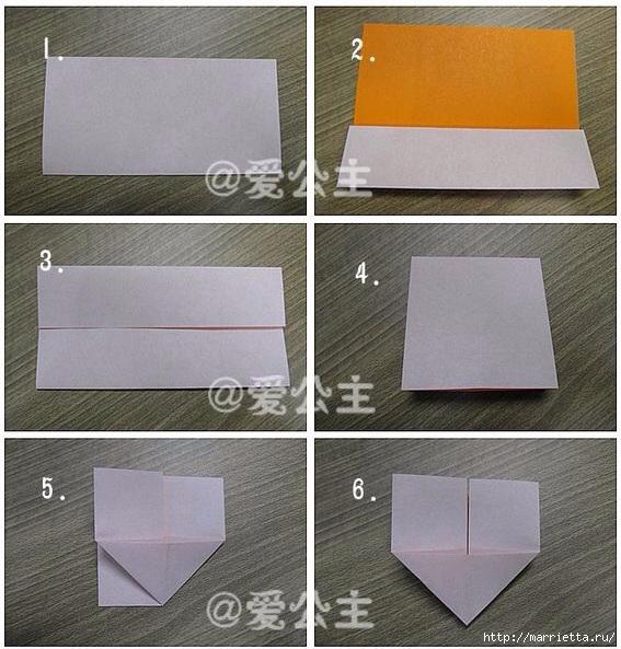 Бабочки из бумаги в технике оригами. 4 способа (31) (567x593, 221Kb)