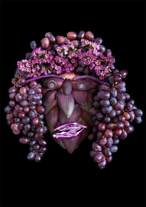...Когда художник объединяет творчество с овощами и фруктами