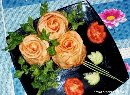 Розы из теста с начинкой (1) (450x331, 141Kb)