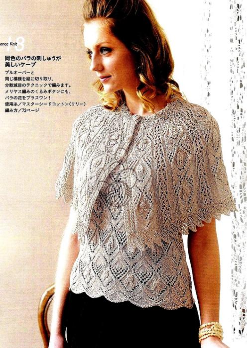 Вязание спицами модели ажурная накидка