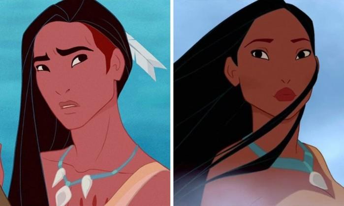 Если бы диснеевские принцессы были мужчинами