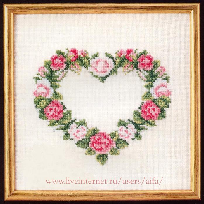 Венок из роз вышивка схема 219
