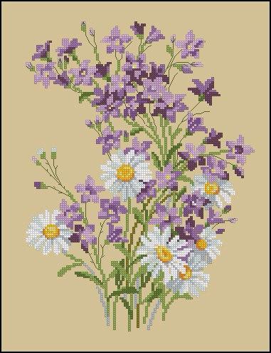 Полевые цветы (381x495, 182Kb)