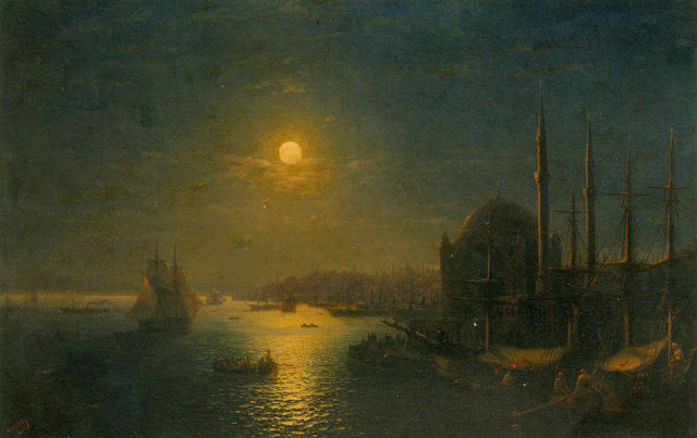 A_Moonlit_View_of_the_Bosphorus Ivan Aivazovsky (640x403, 222Kb)