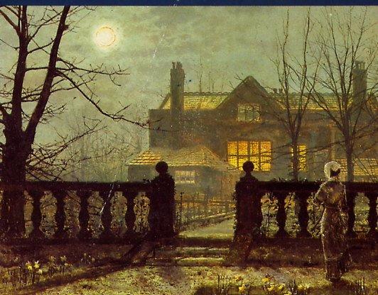 Atkinson Grimshaw, A lady in a garden by moonlight 1882 (532x416, 266Kb)