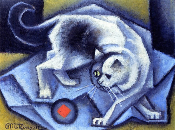 Jean Metzinger (French, 1883 - 1956) Cat playing with a ball (700x519, 451Kb)