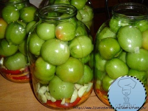 Консервация зелёных помидор рецепт
