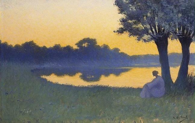 "At Sunset"" (1894) (647x409, 291Kb)"