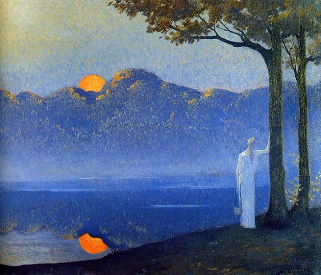 La muse au lever du soleil, 1918 (644x551, 500Kb)