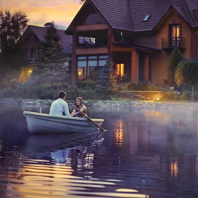 ночь двое в лодке