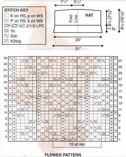 Шапочка спицами(3) (483x604, 272Kb)