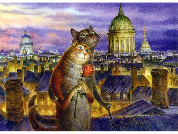 Румянцев картины коты где купить