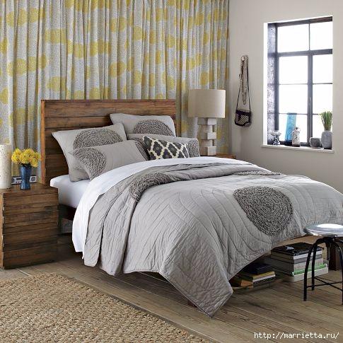 Шьем сами. Интересный декор подушки и одеяла воланами (6) (485x485, 165Kb)