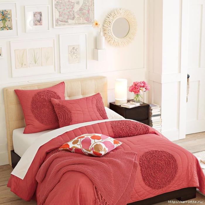 Шьем сами. Интересный декор подушки и одеяла воланами (8) (700x700, 308Kb)