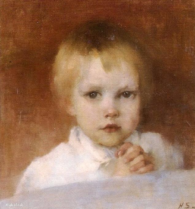 Praying child, 1891 (635x679, 491Kb)