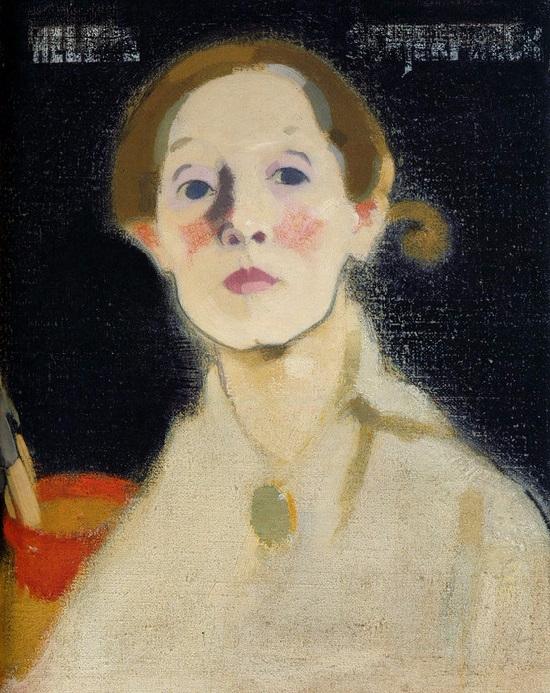 Self-Portrait, Black Background, 1915 (550x693, 427Kb)