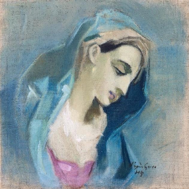 Blå Madonna (Blue Madonna), 1943 (631x631, 524Kb)