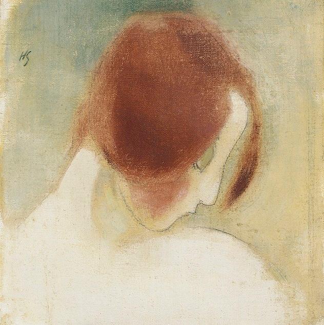 Punainen pää II, öljy kankaalle, 1915 (632x635, 502Kb)