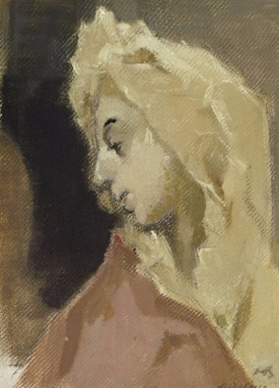Profile of Madonna, after El Greco, 1943 (398x553, 171Kb)