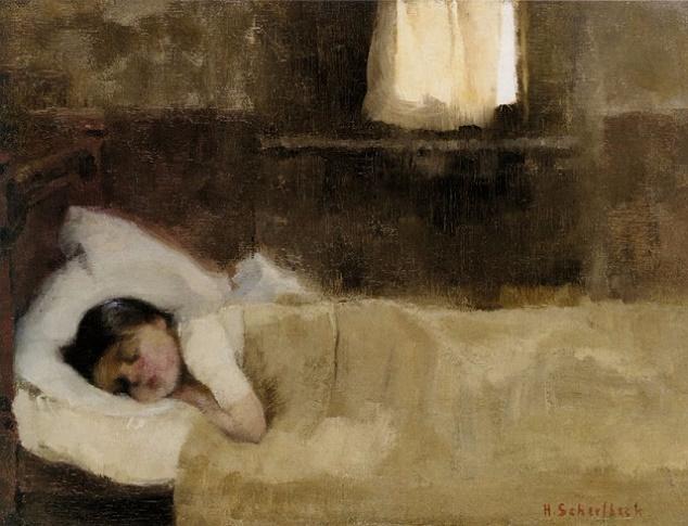 Спящая девочка, 1890 (634x485, 277Kb)