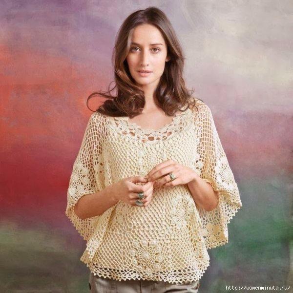Ажурная блузка-накидка(600x600, 182Kb)