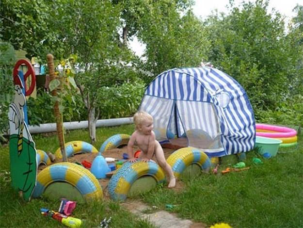 Обустраиваем детскую площадку на дачном участке
