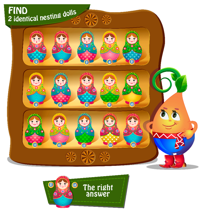 Find 2 identical nesting dolls (669x700, 526Kb)