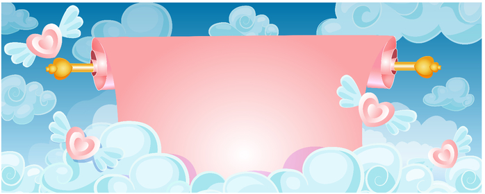 scroll banner in the clouds (700x280, 169Kb)