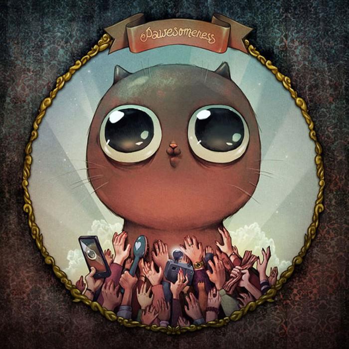 Грешные котики: 7 смертных грехов на примере котов от российского иллюстратора