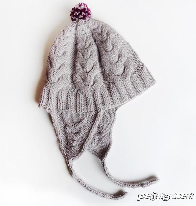 Детская шапка «Я люблю косы»5 (665x700, 210Kb)