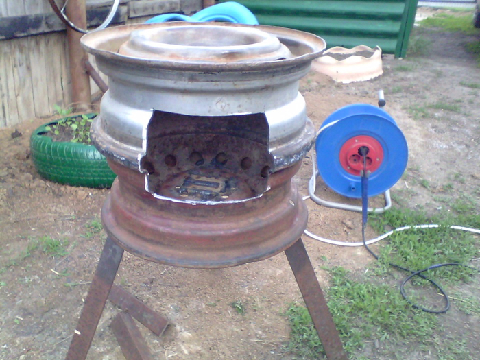 Поделки из колесных дисков фото