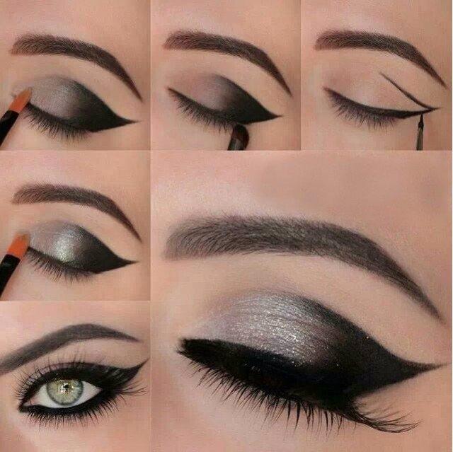 Gorgeous-Black-and-Silver-Eye-Makeup-Tutorial (640x639, 250Kb)