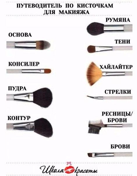 Функции кисточек для макияжа