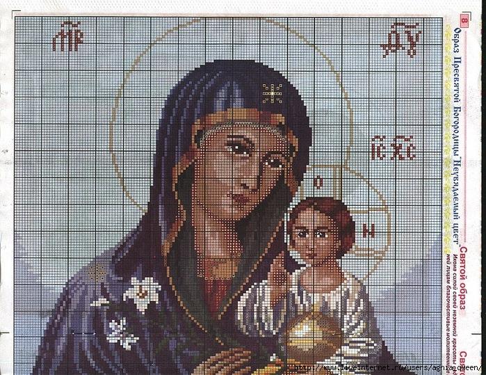 Схема вышивки богородицы 24
