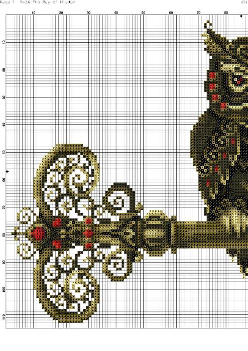 Ключ вышивка схема 31