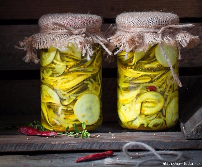 Рецепт вкусных маринованных кабачков (3) (649x539, 267Kb)