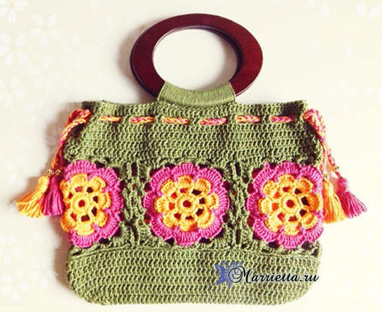 Летняя сумочка крючком с цветочными мотивами (1) (545x446, 288Kb)