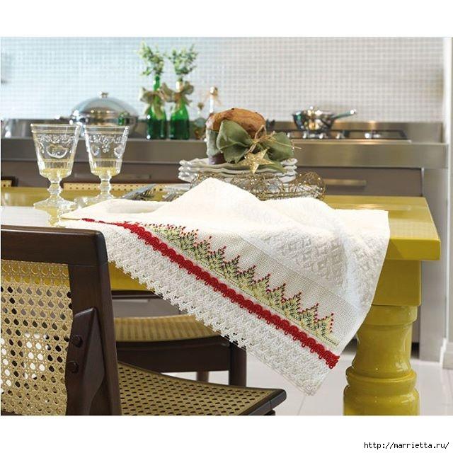 Вышиваем бордюры на полотенце. Схемы (5) (640x640, 203Kb)