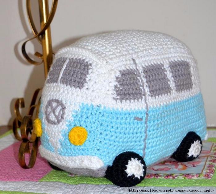 Автобус крючком схема