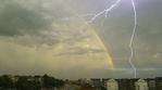 ������ rainbow with lightning Atmospheric Phenomena (599x333, 103Kb)