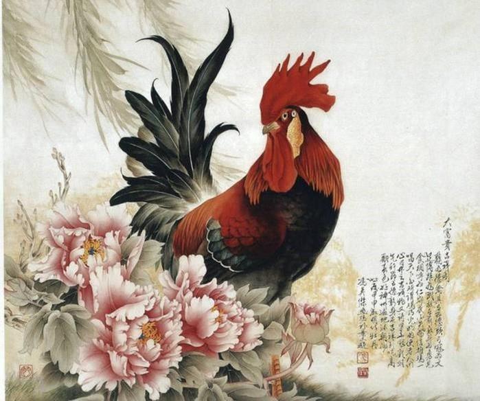 Художник Фэн Инцзе: петухи в китайской живописи