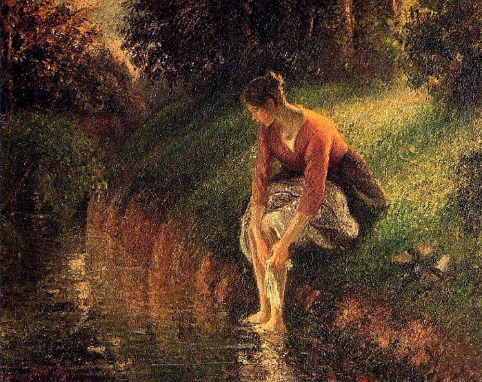 Young Woman Bathing Her Feet. (1895) (700x555, 638Kb)