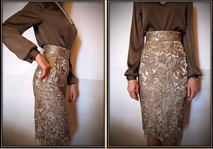 Сшить кружевное платье своими руками мастер класс 5