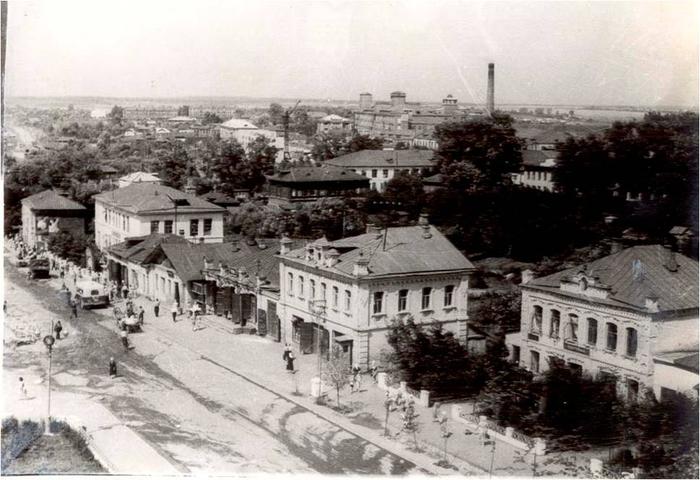 Город Фурманов, ул. Социалистическая. Фото Н. Павлова, 1961 год. (700x480, 273Kb)